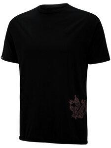 Supima Baumwolle Herren T-Shirt mit Feuerdrache - Chakura by Ku Ambiance