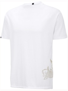 Supima Cotton, Men's Tshirt mit Koi-Fisch - Chakura by Ku Ambiance
