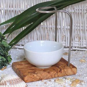 Rasierpinselhalter DESIGN aus Olivenholz - Olivenholz erleben