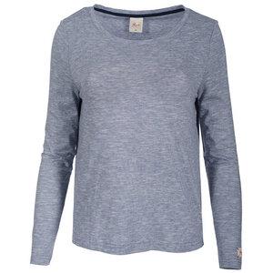 Langarmshirt - dunkelblau geringelt - People Wear Organic