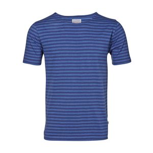 Jacquard Striped Tee - Dark Denim - KnowledgeCotton Apparel