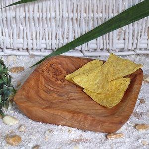 Knabberschale (eckig) aus Olivenholz - Olivenholz erleben