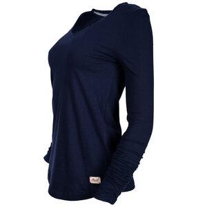 Yogashirt mit V-Ausschnitt - dunkelblau  - People Wear Organic