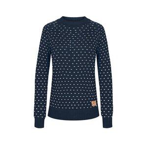Summits Pullover Damen Blau/ Weiß - bleed