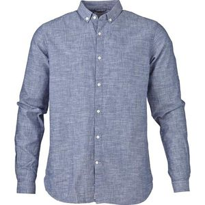 Cotton/Linen Shirt - Dark Blue - KnowledgeCotton Apparel
