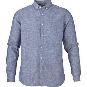 Cotton/Linen Shirt - Dark Blue - KnowledgeCotton Apparel