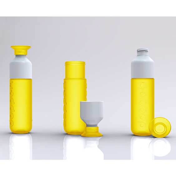 dopper original dopper wasserflasche hello yellow. Black Bedroom Furniture Sets. Home Design Ideas