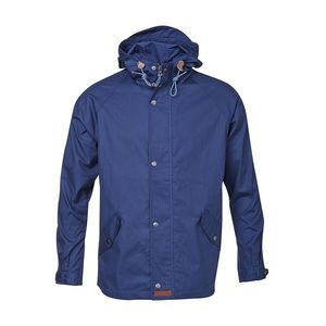 Waxed Canvas Light Jacket - Dark Denim - KnowledgeCotton Apparel