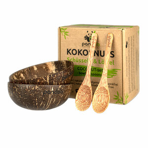 pandoo Kokosnuss Schalen 2er Set - 100% Naturprodukt - pandoo