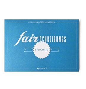 "Postkarten ""fair"" 10er-Set mit Hülle - Gary Mash"