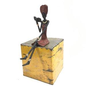 "Bronze-Skulptur ""Lesende Frau"" 25 cm - Moogoo Creative Africa"