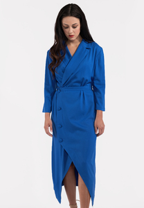 Damen Kleid Wickelkleid langarm Blazer - SinWeaver alternative fashion