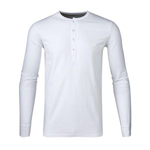 Henley - Bright White - KnowledgeCotton Apparel