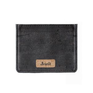 Geldschein- und Kartenetui - Black aus Kork - Jentil Bags