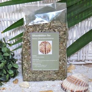 Olivenblätter-Tee, reine Olivenbaumblätter - Olivenholz erleben
