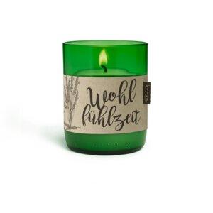 Duftkerze Wohlfühlzeit - rein natürlich - mit der Kraft des Lavendels - Looops Kerzen