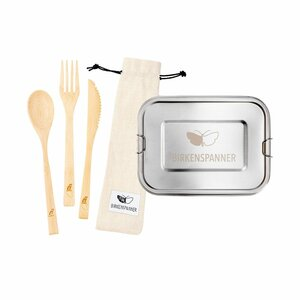 LUNCHSET: Große Lunchbox + Besteckset - BIRKENSPANNER