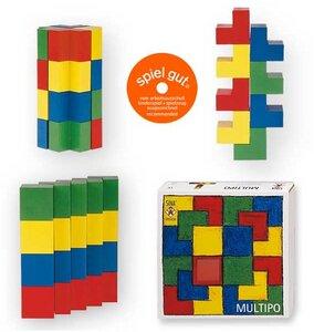 Multipo- 20 Holzbausteine ab 2 Jahre geeignet wunderschön für kleine Hände - Sina Spielzeug