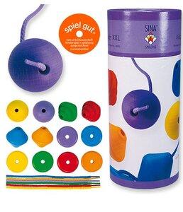 Holzperlen XXL ab 2 Jahre geeignet wunderschön für kleine Hände - Sina Spielzeug