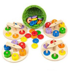Zeiger-Steckspiel Set für Kindergarten und Krippe , ab 18 Monate geeignet - Sina Spielzeug