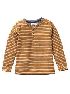 Kinder Henley Langarm-Shirt reine Bio-Baumwolle - People Wear Organic
