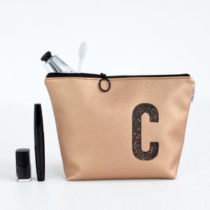 Kulturtasche personalisiert mit Monogramm (KUPFER) - renna deluxe