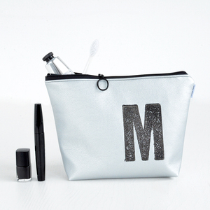 Kulturtasche personalisiert mit Monogramm (SILBER) - renna deluxe