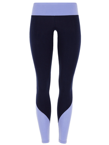 Colour Block Leggings - Navy/Lavendel - Mandala