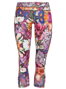 Athletic Capri - Spring Print - Mandala