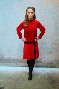 Turtleneck – Dress in Rot - ManduTrap
