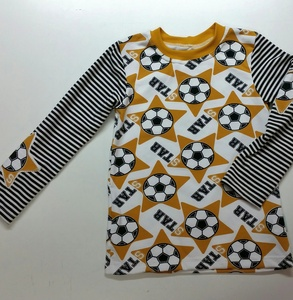 Kinder-Shirt/Longsleeve Soccerstars curry aus Bio- Jersey - Omilich