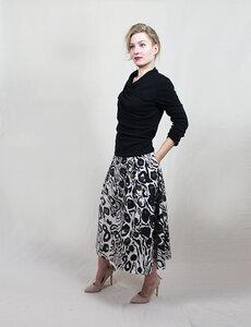 Rock Lola aus Bio-Baumwolle mit extravagantem Print - Skrabak