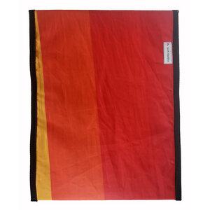 Handgearbeitete Notebook-Tasche upcycelt aus Segeltuch UNIKAT 16-17 Zoll - Beachbreak