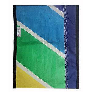 Handgearbeitete Notebook-Tasche upcycelt / UNIKAT 16-17 Zoll - Beachbreak