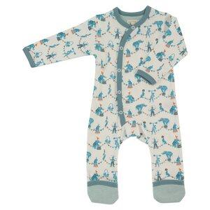 Kimono-Strampler CIRCUS blau (GOTS zertifiziert) - Organics for Kids