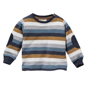 Baby Langarmshirt blau geringelt Bio Baumwolle People Wear Organic - People Wear Organic