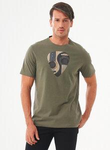 T-Shirt aus Bio-Baumwolle mit Gitarren-Print - ORGANICATION