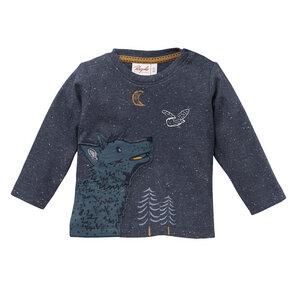 Baby Langarmshirt blau Bio Baumwolle People Wear Organic - People Wear Organic