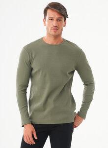 Geripptes Langarmshirt aus Bio-Baumwolle - ORGANICATION