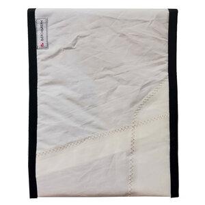 Handgearbeitete Notebook-Tasche aus Segeltuch upcycled UNIKAT 11-12 Zoll - Beachbreak
