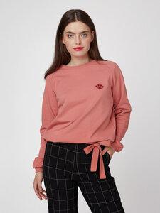 "Frauen Sweatshirt aus Bio-Baumwolle ""Bow Bow"" - Mademoiselle YéYé"