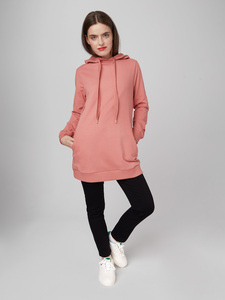 "Frauen Long Hoodie Shirt aus Bio-Baumwolle ""Cozy Days"" - Mademoiselle YéYé"