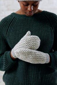 Handschuhe Cusco Hellgrau-weiß - Jyoti - Fair Works