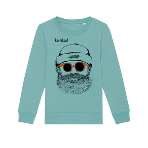 Kinder Sweatshirt Print | HIPSTER | karlskopf | 85% Bio-Baumwolle - karlskopf