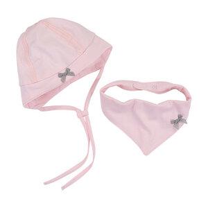 Babymützchen und Dreieckstuch, rosé - luftagoon