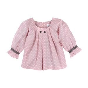 Babybluse rosa mit weißen Pünktchen - luftagoon