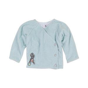 Nicki-Baby-Jacke aquafarben Mädchen und Jungen 100% Bio-Baumwolle - luftagoon