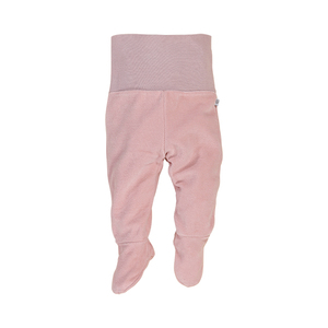 Nicki-Baby-Hose mit Fuß für Mädchen altrosé, 100% Bio-Baumwolle - luftagoon