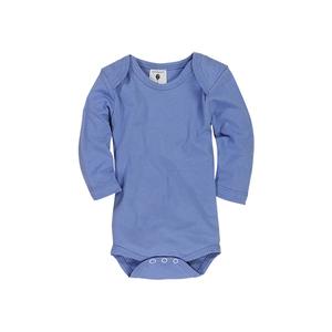 Langarm Babybody, 100% Biobaumwolle in blau oder rosa - luftagoon