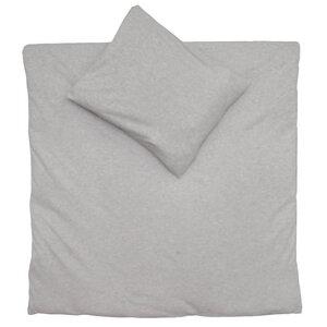 Bettwäsche Set Jersey 100x135cm + 40x60cm in beige melange - cotonsano